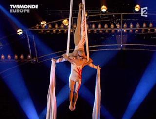 Дуо Поспелов - воздушные гимнасты на полотнах